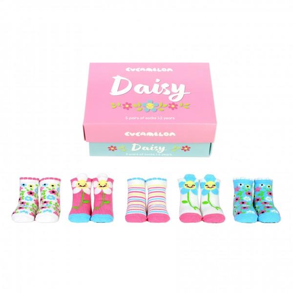 Cucamelon - Kindersocken - Daisy Blume 5er-Set - 1 bis 2 Jahre