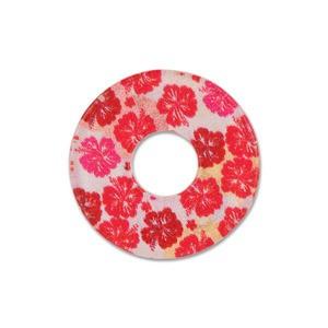 Ring Ding - Scheibe für Ringe - Acryl Dänish Art Red Flowers 22m
