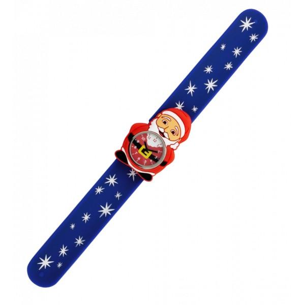 Pylones - Uhr Silikon Reflexarmband Funny Time - Santa Weihnachtsmann