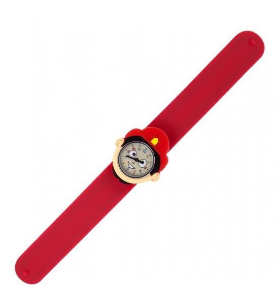 Pylones - Uhr Silikon Reflexarmband Funny Time - Feuerwehrmann
