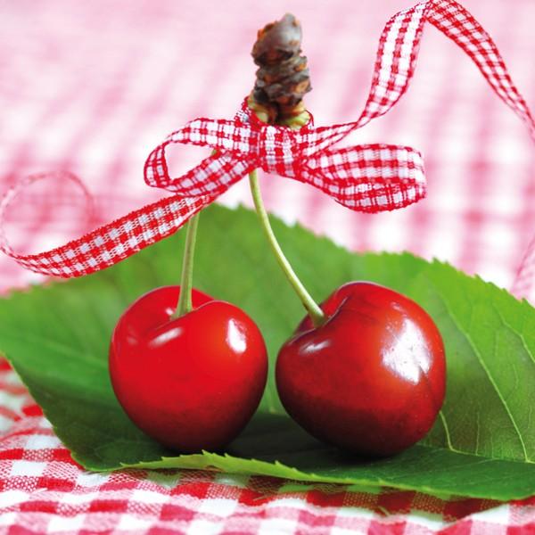 Servietten - Kirschen - Vichy Cherries