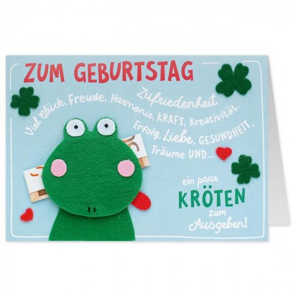Gruss Und Co Filzkarte Geburtstag Geldgeschenk Frosch Ein Paar