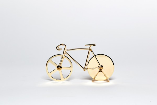 doiy - Pizzaschneider Fahrrad - Fixie Pizza Cutter - Gold