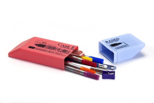 Mäppchen - Aufbewahrungs-Box für Stifte Radiergummi -Case Erased