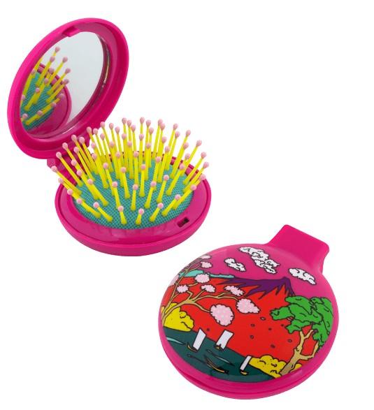 Pylones - Pocket Haarbürste mit Spiegel - Lady Retro - Estampe