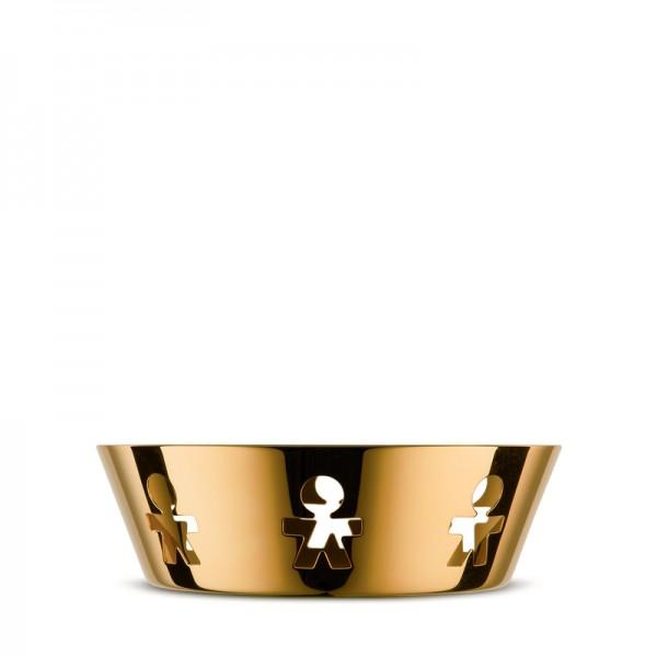 Alessi - Schale Korb Girotondo - 24 Karat Gold limitierte Auflage - klein 18 cm