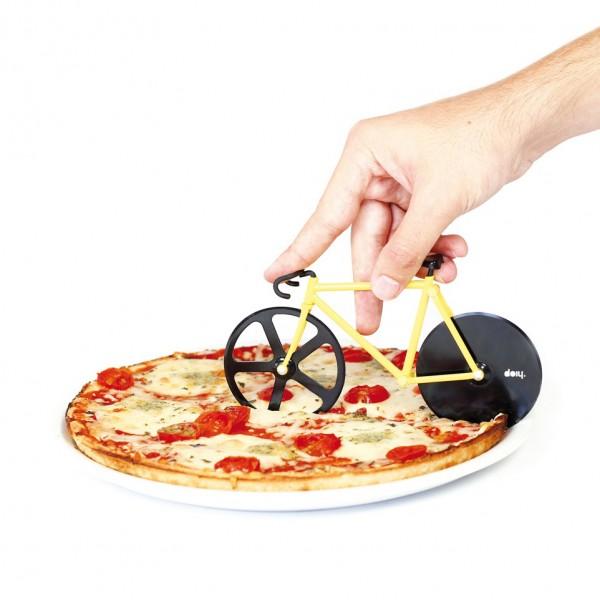 doiy - Pizzaschneider Fahrrad - Fixie Pizza Cutter - Bumblebee