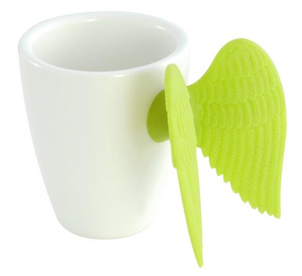 Pylones - Espressotasse mit Engelsflügel - Angel Express - grün