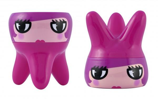 Pylones - Zahnschachtel / Zahnbox - Quenotte - Zahn - pink