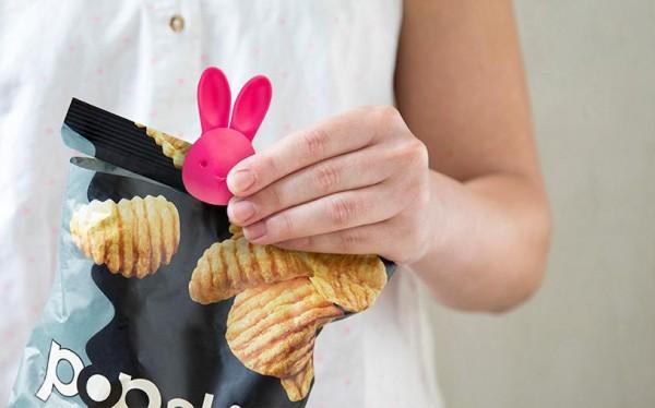 Peleg Design - Tüten-Öffner Tüten-Schneider Hase Bag Bunny - pink
