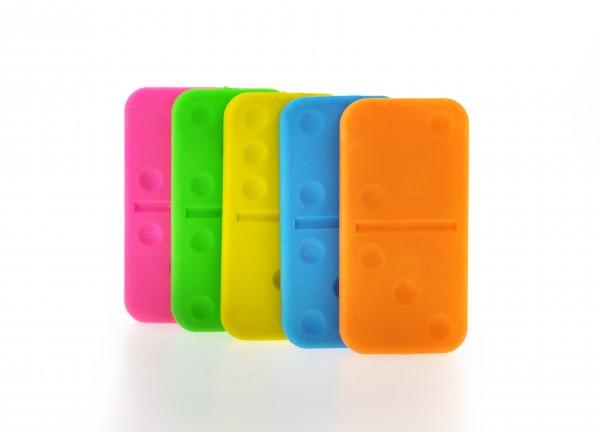 Radiergummi - Domino-Steine - Domino Eraser - 5er-Set