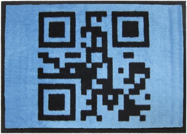 Fußmatte - Schuhabstreifer - QR-Code - Willkommen