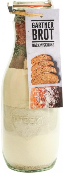 Brotbackmischung im Weck-Glas - Gärtnerbrot - 1062 ml