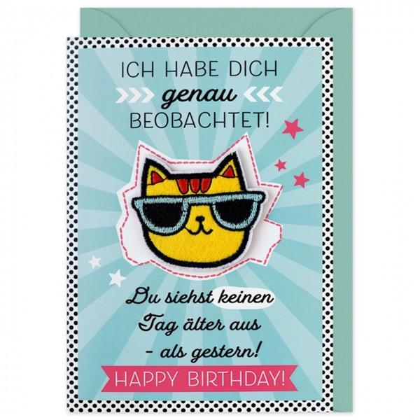 Gruss Und Co Patch Post Geburtstag Katze Die Karte Mit