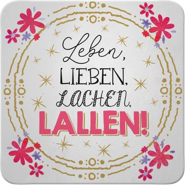 My Beautytree - Kork-Untersetzer - Leben, lieben, lachen, lallen