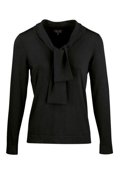 Zilch - Langarmshirt mit Schleife - Top Bow - black schwarz