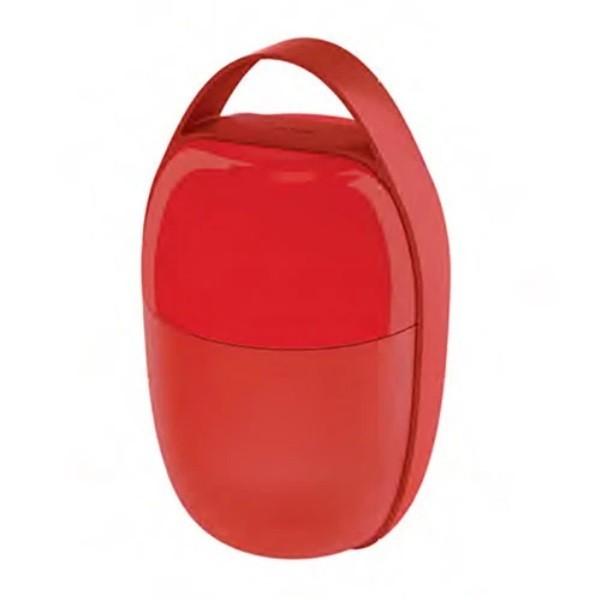 Alessi - Lunchbox Vesperdose im Handtaschen-Design - Food a Porter rot