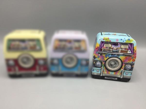 Blechdose - Mini Camper Van Front - Camping Bus - bunt