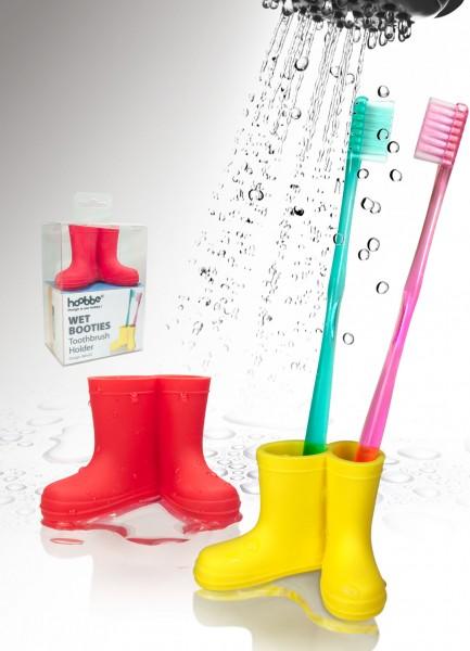 Zahnbürstenhalter Gummistiefel - Wet Booties - gelb