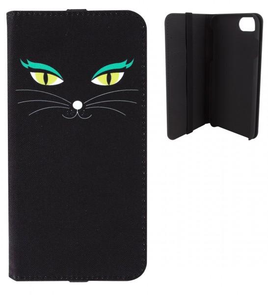 Pylones - iPhone-Hülle zum Umklappen - iWallet - Katze Black Cat