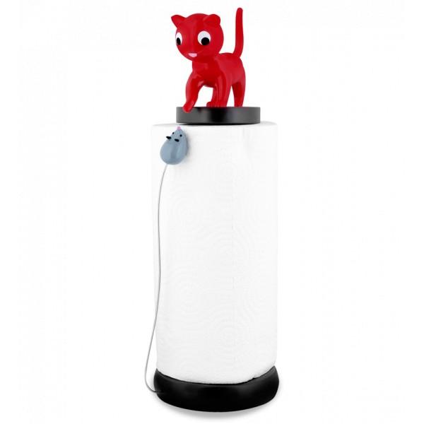 Pylones - Küchenrollenhalter Katze und Maus Charoule - rot