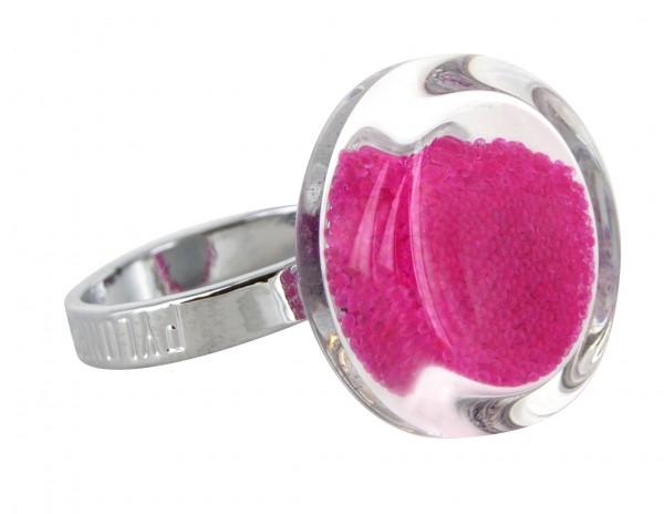 Pylones - Ring - Nano Cachou Billes - Kügelchen pink