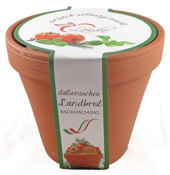 Brotbackmischung im Tontopf - Italienisches Landbrot - 320 Gramm