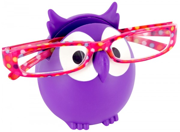 Pylones - Brillenhalter Eule - Owl - Brillen-Ablage - lila violett