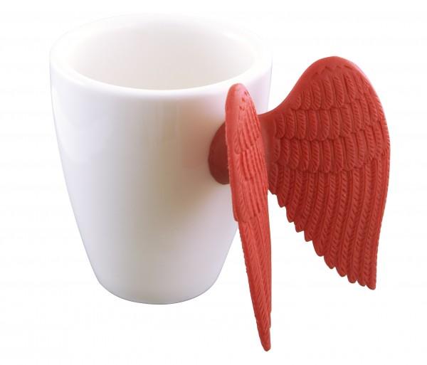 Pylones - Espressotasse mit Engelsflügel - Angel Express - rot