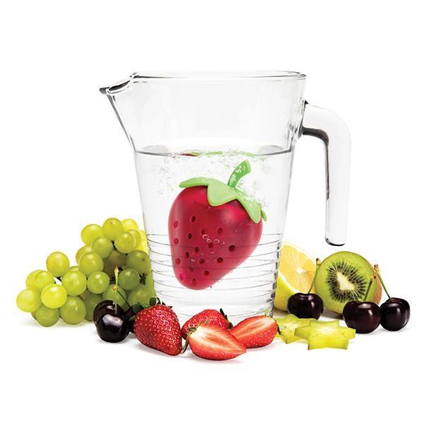 Ototo - Fruchtsieb Früchtebehälter Erdbeere - Tutti - zum Aromatisieren von Wasser