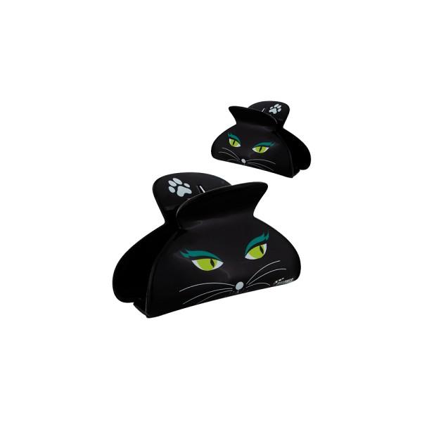 Pylones - Haarspange - Haarklammer - Ladyclip Large - Black Cat Katze schwarz
