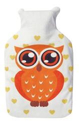 Silly - Wärmflasche mit Überzug Eule - Water Bottle Owl - orange