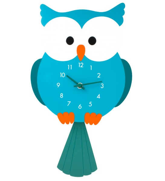 Pylones - Wanduhr Eule mit schwingendem Pendel - Dancing Owl