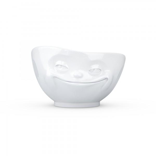 TV Tassen - Schale mit Gesicht 1000ml - grinsend - aus Porzellan