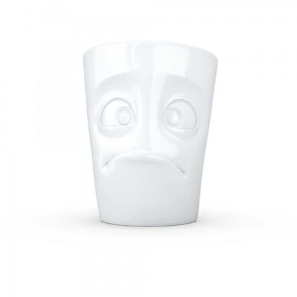 TV Tassen - Henkeltasse mit Gesicht - verdutzt aus Porzellan