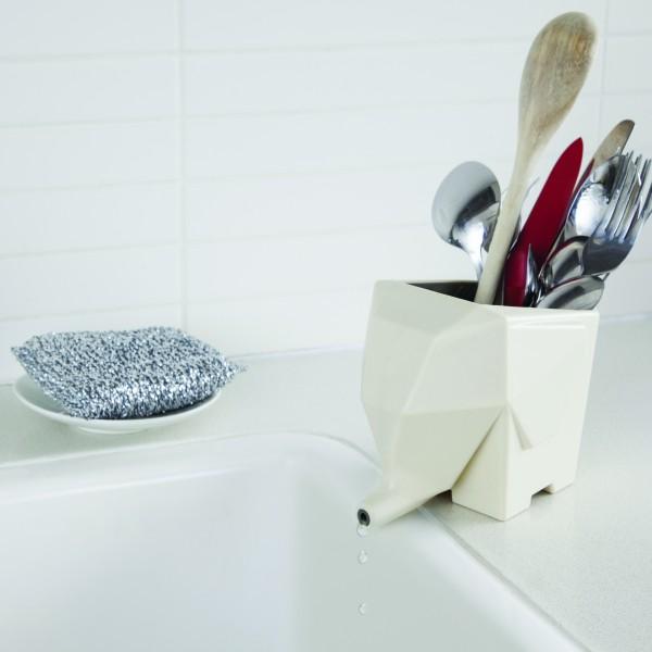 Peleg Design - Abtropfbehälter Elefant - Jumbo - cream