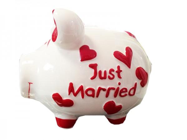 Sparschwein - Spardose Mittelschwein - Just Married