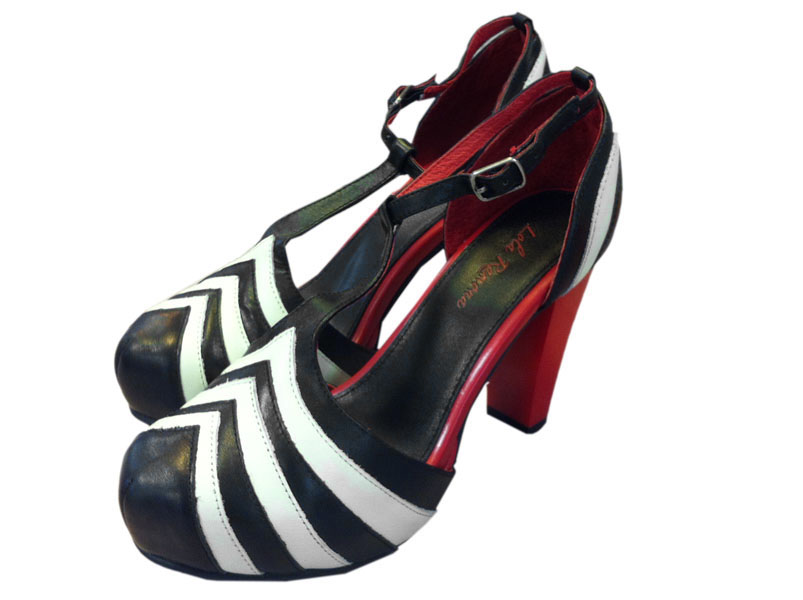 buy popular a32a3 41da3 Lola Ramona - Schuhe - Pumps - Angie - schwarz weiß rot