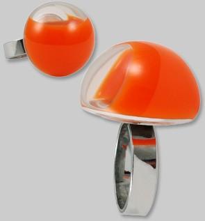 Pylones - Ring - Hefyglass Dome Milk - Orange