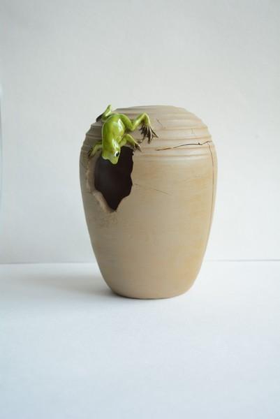 Indoor- und Outdoor-Vase Blumenvase - Frosch F
