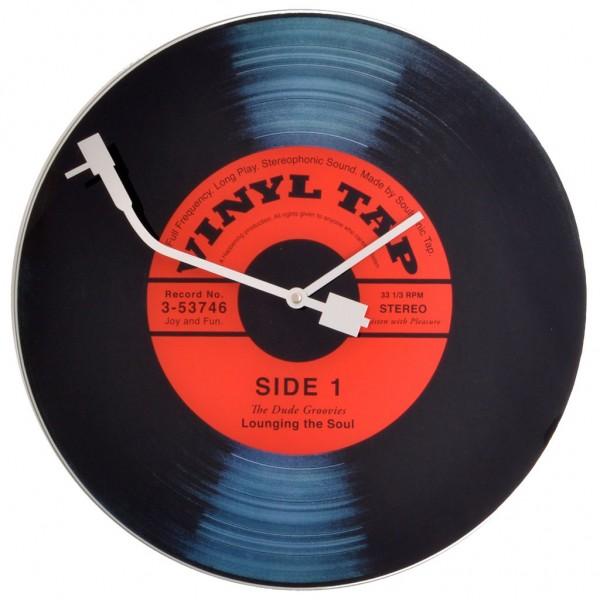 Wanduhr schallplatte vinyl tap 43 cm pigmento kunst design - Wanduhr schallplatte ...