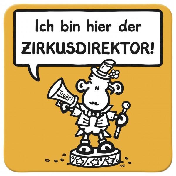 Sheepworld - Kork-Untersetzer - Zirkusdirektor
