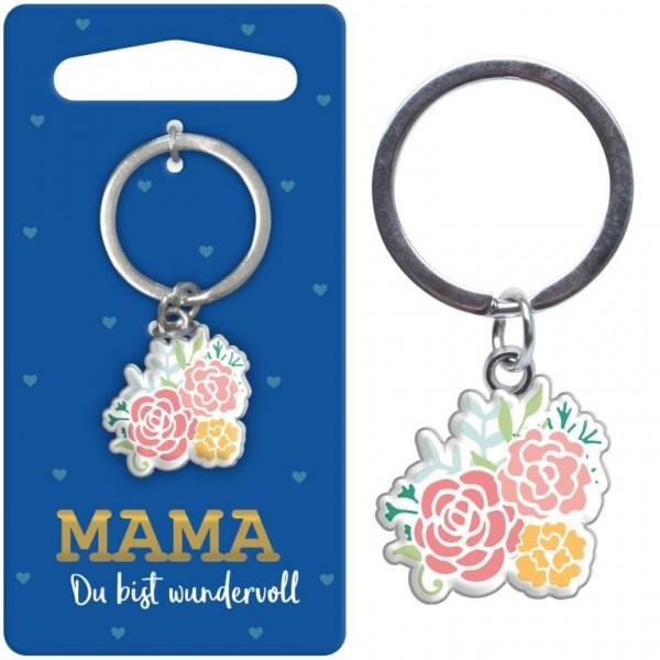 Sheepworld - Mini Schlüsselanhänger Blumen - Mama du bist wundervoll