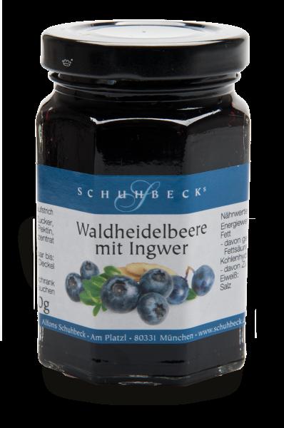 Schuhbecks Gewürze - Fruchtaufstrich - Waldheidelbeere mit Ingwer - 130 Gramm