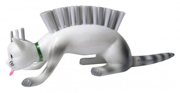 Pylones - Nagelbürste - Katze - Caty Chat - weiß