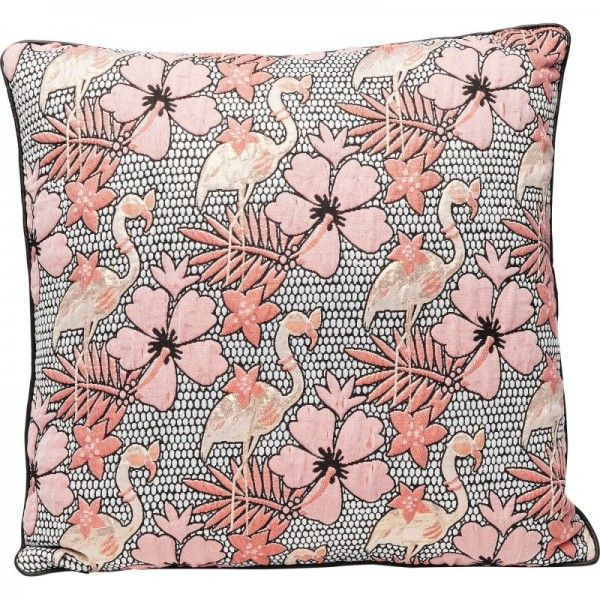 Kare Design - Kissen Flamingo Flowers - 45 x 45 cm