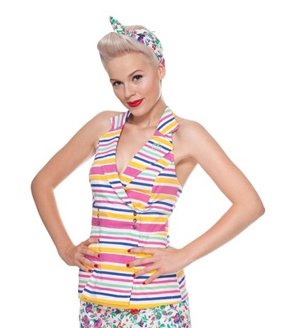 Blutsgeschwister - Yachting Toplet - Candy Stripes