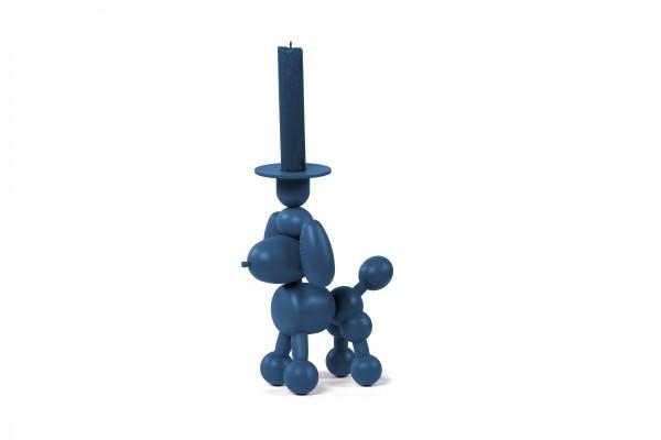 Fatboy - Kerzenhalter - Hund Luftballon-Tier Pudel - Can Dolly - greyblue dunkelblau