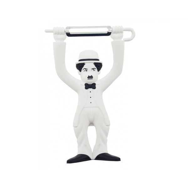 Gemüseschäler Sparschäler - Charlie Chaplin - weiss