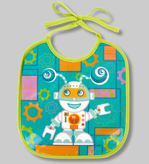 Pylones - Babylätzchen Lätzchen für Kinder - Bib Petit Glouton - Robot